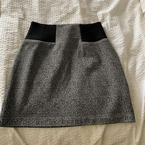 Club Monaco grey/black mini skirt, wool blend.